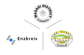 Landkreis Enzkreis mit Masasi District und Masasi Town Council (Tansania)